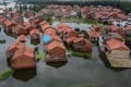 Houses in Jiangxi were inundated after the Yangtze River overflowed earlier this month. Photo: AFP