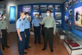 Xi Jinping visits the museum of the Aviation University of the Air Force in northeast China. Photo: Xinhua