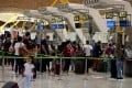 Travellers at Madrid's Barajas airport in Spain. Photo: EPA-EFE