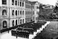 Colonial officers parade in front of Hong Kong's Victoria Prison complex in this undated image.