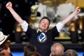 For Tesla and SpaceX CEO and owner Elon Musk the sky is seemingly the limit as he zooms up the world's richest list. Photo: Reuters