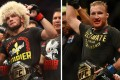 Khabib Nurmagomedov (left) after his UFC 242 win over Dustin Poirier. Justin Gaethje (right) after beating Tony Ferguson at UFC 249 for the interim lightweight title. Photo: AP/USA TODAY Sports