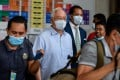 Former Malaysian Prime Minister Najib Razak (second from left), seen on July 29, was sentenced to 12 years in prison on Tuesday. Photo: Bernama via dpa