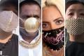 Designer masks are today's must-have accessory. Photos: @imngo/Instagram, @ThePuneMirror/Twitter, @imngo/Instagram, Screen capture/SCMP