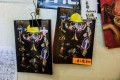 Postcards with artwork based on the pro-democracy protests at a bookstore in Hong Kong that stocks books with sensitive political titles that could potentially contravene the new Hong Kong national security law. Photo: AFP