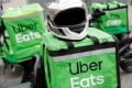 Uber Eats, whose gross bookings more than doubled, continued its loss-making streak but narrowed losses. Photo: Reuters