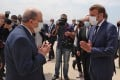 Lebanon's President Michel Aoun (left) receiving his French counterpart Emmmanuel Macron at the airport in Beirut. Photo: AFP