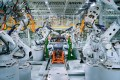 Situated in China's southern city of Zhaoqing, Xpeng's new factory touts 100 per cent automation for installation of car bodies at its welding workshops, with over 200 robotic arms. Photo: Handout