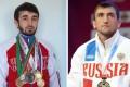 Zabit Magomedsharipov with his sanda medals (left) and Muslim Salikhov at the 2013 World Combat Games. Photo: Pyat Storon Sveta