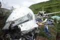 A view of the wreckage of an Air India Express Boeing 737 after it crashed at Calicut airport on Friday. Photo: AP