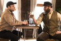 In new comedy An American Pickle, Seth Rogen plays the dual role of a Jewish immigrant from Eastern Europe (right) who wakes up 100 years after being preserved in a pickle vat, and Ben Greenbaum, his Brooklyn-based great-grandson (left). Photo: AP