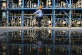 An engineer on a bicycle checks pipelines at an oil refinery of the state-run China National Petroleum Corp – now the world's fourth-largest company, according to the latest Fortune Global 500 list. Photo: Reuters
