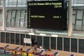 The results board shows Siobhan Haughey's excellent performance in the 200m freestyle in a trial at the Sports Institute. Photo: Hong Kong Swimming Coaches Association