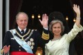 Spain's former king, Juan Carlos, with his wife, Sofia, in Madrid, in 2004. Photo: AFP