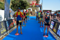 Runners are called to the start in groups and made to distance at the Trail Porto de Cruz in Portugal. Photo: Aurelio Davide