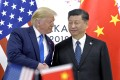 US President Donald Trump, left, shakes hands with President Xi Jinping during a meeting on the sidelines of the Group of 20 summit in Osaka, Japan, on June 29, 2019. Both leaders have built their reputations on the back of stirring nationalist sentiment, making them seemingly natural allies despite outward hostilities. Photo: AP