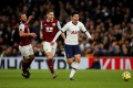 Tottenham Hotspur's Son Heung-min races past two Burnley defenders on the way to scoring the English Premier League Goal of the Season last December. Photo: Reuters