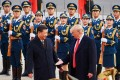 Presidents Xi Jinping and Donald Trump during the US leader's visit to Beijing in November 2017. The warmer tone in the bilateral relationship has since faded into the distance. Photo: TNS