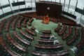 The empty main chamber of the Legislative Council on July 28. Government inaction extends also to the civil service. Photo: Nora Tam