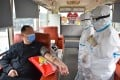 In Beijing, a recovered Covid-19 patient donates plasma on a blood donation bus in February. A study out of the Mayo Clinic in the US has looked at how a plasma infusion rich in specific antibodies may reduce the mortality rate among the very ill. Photo: Xinhua