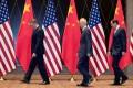 US Trade Representative Robert Lighthizer, Chinese Vice-Premier Liu He and Treasury Secretary Steven Mnuchin pictured in Shanghai last year. Photo: Reuters