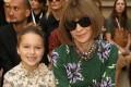 Harper Seven Beckham next to US Vogue editor Anna Wintour. Photo: @victoriabeckham/Instagram