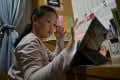 Extended lockdowns of schools and increased use of online learning have given rise to concerns about the amount of screen time children have each day and the quality of education received. Photo: AFP