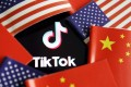 China and U.S. flags are seen near a TikTok logo in this illustration picture taken July 16, 2020. Photo: Reuters