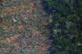 An aerial view of a deforested piece of land in the Amazon rainforest near Porto Velho in Rondonia, northern Brazil, on August 23, 2019. Unlike other jurisdictions, Hong Kong's banks are not required to make public whether the projects or companies they finance are linked to environmentally damaging practices. Photo: AFP