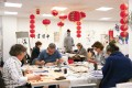 Students write Chinese calligraphy at the Confucius Institute in Brussels, Belgium, in this 2017 file photo. Photo: Xinhua