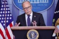 White House economic adviser Larry Kudlow speaks at a press briefing at the White House in July. Photo: Reuters