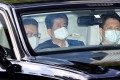 Japanese Prime Minister Shinzo Abe arrives at hospital in Tokyo. Photo: AFP