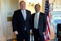 United States Secretary of State Mike Pompeo with policy adviser Miles Maochun Yu. Photo: US State Department