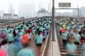 Thousands of 10k runners on the Eastern Island Corridor during the 2019 Hong Kong Marathon. Photo: Felix Wong