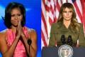 Michelle Obama and Melania Trump. Photo: MCT/AFP