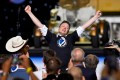 Elon Musk after the successful launch of a SpaceX Falcon 9 rocket and Crew Dragon spacecraft on NASA's SpaceX Demo-2 mission at Cape Canaveral on May 30, 2020. Musk this week became the fourth person in history to join the rarefied centibillionaire club, where his fortune topped US$100 billion. Photo Reuters