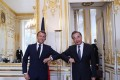Emmanuel Macron pictured with Wang Yi in Paris. Photo: Handout