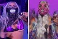 Video grabs by MTV, showing Lady Gaga wearing masks during the 2020 MTV Video Music Awards. Photo: MTV via AP