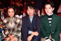 What sets Yoyo Cao (left) and Tao Liang (centre) apart from influencers in the United States and Europe? They can sell to consumers through social media much more easily, and make no bones about the commercial nature of their act. Photo: Getty Images for Gucci
