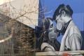 A coronavirus-inspired street art mural in Melbourne. Photo: EPA-EFE