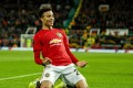 Manchester United's Mason Greenwood celebrates a goal. He has switched from forward to midfield ahead of the new Fantasy Premier League season. Photo: EPA