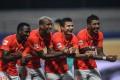 Guangzhou Evergrande's Fernandinho, Anderson Talisca, Elkeson and Paulinho celebrate against Shanghai Shenhua in the Chinese Super League. Photo: Xinhua