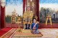 Thailand's King Maha Vajiralongkorn with royal consort Sineenat Wongvajirapakdi. Photo: AFP