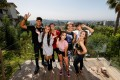 Influencers living at the TikTok house Kids Next Door in the Hollywood Hills of Los Angeles, including Adam Miguest (left), Claire Hesser (second from left) and Hailey Orona (right). Photo: Reuters