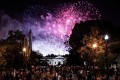 Fireworks light up the sky behind the White House and Washington Monument after US President Donald Trump delivered his address on August 27, the final night of the Republican National Convention 2020. Photo: ZUMA Wire/dpa