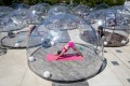 From underground or speakeasy gyms to yoga in a bubble, even dusting off running shoes and hitting the pavement, are all part of the new normal to stay fit. Photo: Reuters