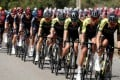 The peloton taking it easy during the Tour de France's sixth stage from Le Teil to Mont Aigoual in France. Photo: Reuters