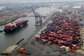 According to data from China's customs administration, exports to the US by sea started growing in June from a year earlier. In July, exports to the US rose by 7.8 per cent from a year earlier, while imports increased by 16 per cent. Photo: Reuters