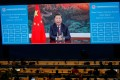 Chinese President Xi Jinping delivers a speech via video for the opening ceremony of the 2020 China International Fair for Trade in Services on Friday. Photo: Reuters