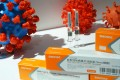 A booth displaying a coronavirus vaccine candidate from Sinovac Biotech is seen at the 2020 China International Fair for Trade in Services in Beijing on Friday. Photo: Reuters